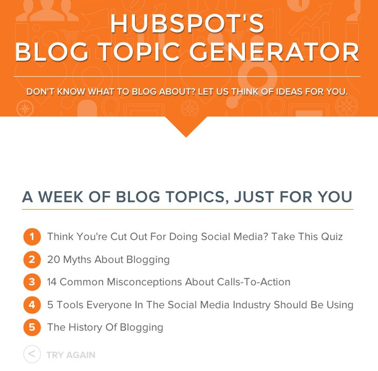 Don't Know What to Write About? Get Ideas From the Blog Topic Generator [Free Tool] #blogging