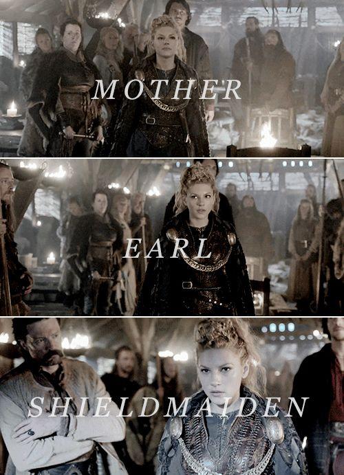 Lagertha: Mother. Earl. Shieldmaiden. #vikings