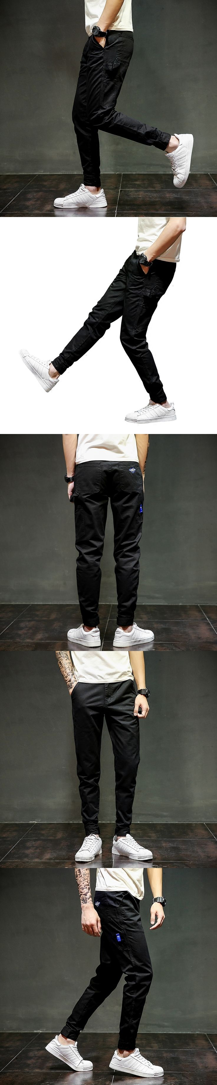 Designer Black Jeans Ankle Length Casual Pants High Quality Harem Pants 28-40 Brand Clothing Men`s Jogger Jeans Pants C315