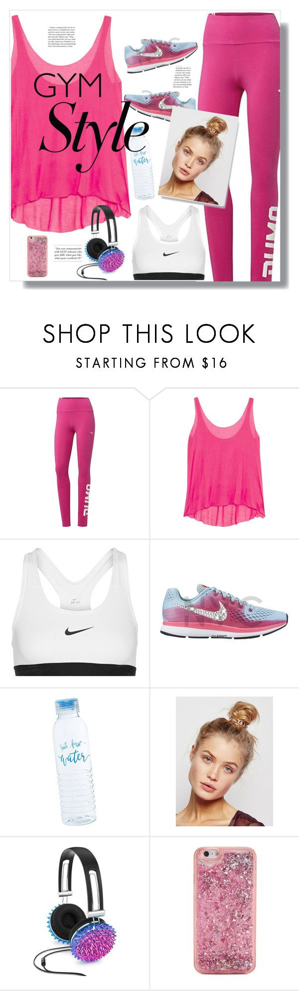 """Gym time"" by pao-mechanic ❤ liked on Polyvore featuring Enza Costa, NIKE, Free People, Celebrate Shop and ban.do"