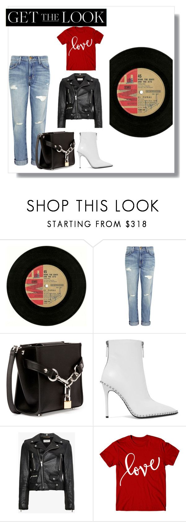"""white boots"" by natyapshopper on Polyvore featuring moda, Beta Fashion, Current/Elliott, Alexander Wang y Yves Saint Laurent"