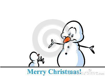 Christmas snowman character small big cartoon illustration isolated image