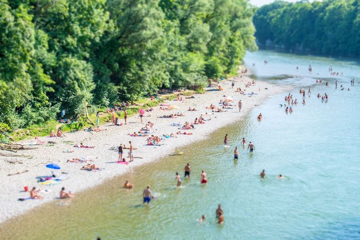 summer 2015 at the Isar in Munich