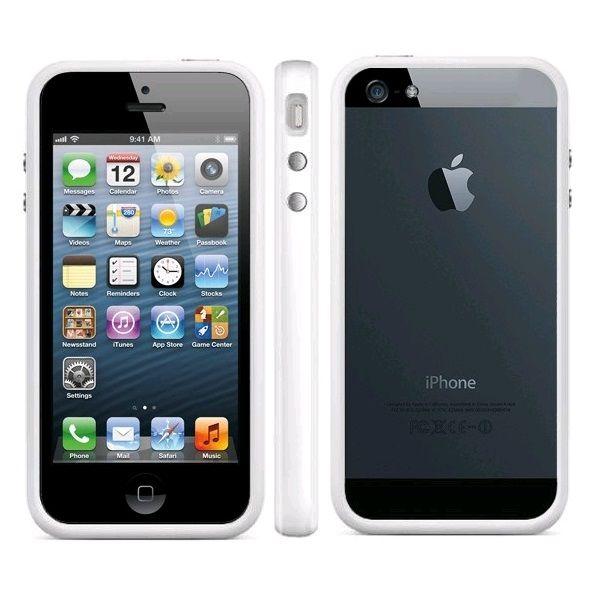 TPU & Silikon Bumper für Apple iPhone 5 & 5S Weiß