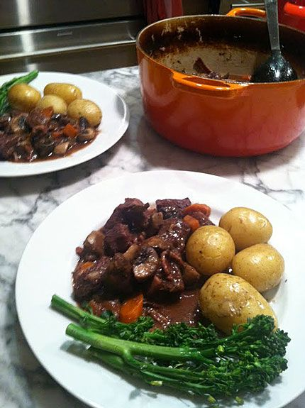 Beef Bourguignon. I can do this one in my sleep but the board isn't complete without it.
