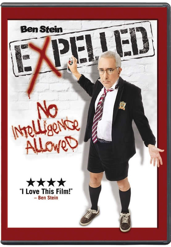 Expelled -  Get ready to be shocked. This amazing documentary featuring actor/author Ben Stein deserves an Oscar(TM). It reveals that America is losing some of its most important freedoms (especially in our tax-supported institutions) because of what evolutionists are doing. You'll be astonished, upset, and inspired!  $12.99 @AiG @AiGHomeschool