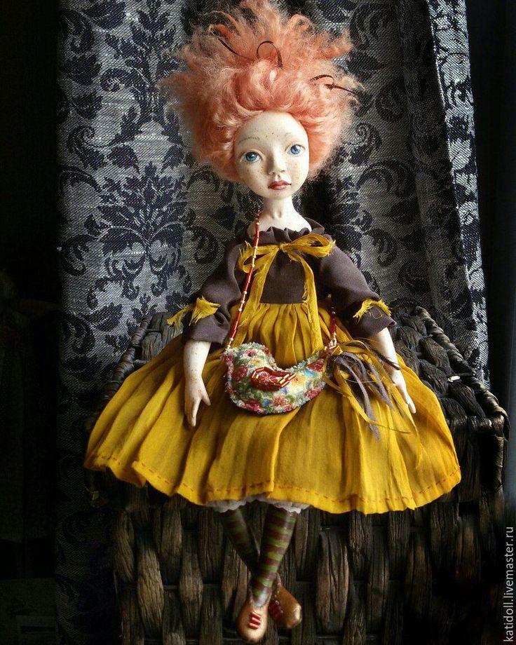 """Купить Подвижная авторская кукла """"Малышка Бу"""" - авторская кукла, подвижная кукла, Будуарная кукла"""