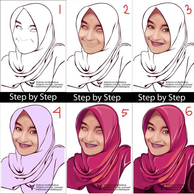 Step by step vector vexel