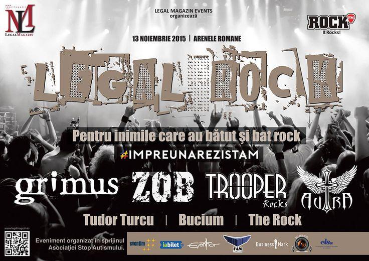 """Concert """"Legal Rock"""" pentru sprijinirea victimelor din Colectiv - http://herald.ro/evenimente/muzica/concert-legal-rock-pentru-sprijinirea-victimelor-din-colectiv/"""