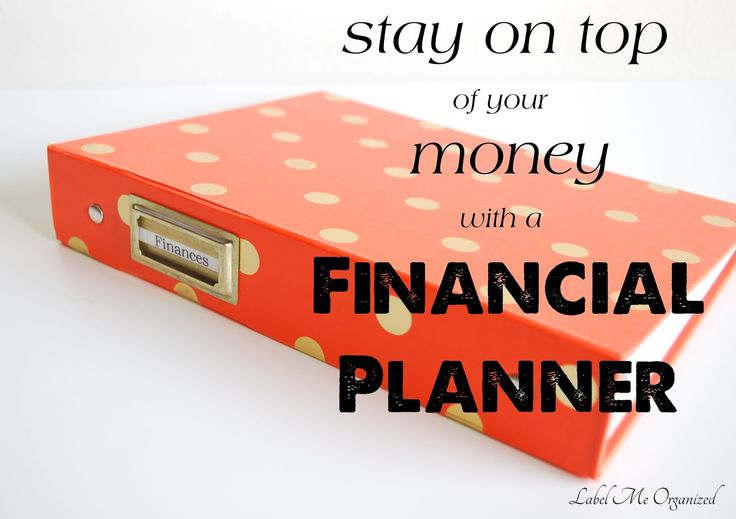 Label Me Organized: How to Make Your Own Financial Planner