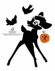 bambi cute disney pumpkin 231x300 Classic Disney Pumpkin Stencils use for freezer paper stencils