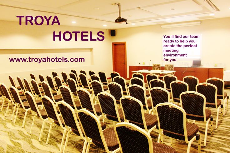  www.hoteltroya.com ✉ guest@hoteltroya.com   +90 212 251 8206  Hotel`s meeting room has a seating capacity of 50 people in theater-layout, and is convenient for all kind of business meetings, seminars, conferences, and receptions. The room is equipped with the latest technologies such as a smart board, sound system and high-speed wi-fi.