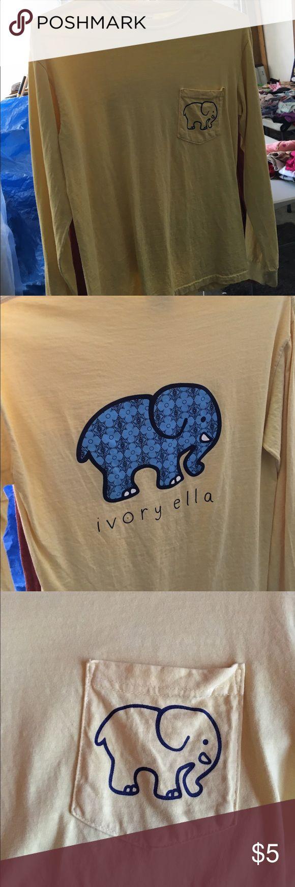 Yellow ivory Ella shirt -- save the elephants! Yellow ivory Ella shirt -- save the elephants! Long sleeve ivory ella Tops Tees - Long Sleeve