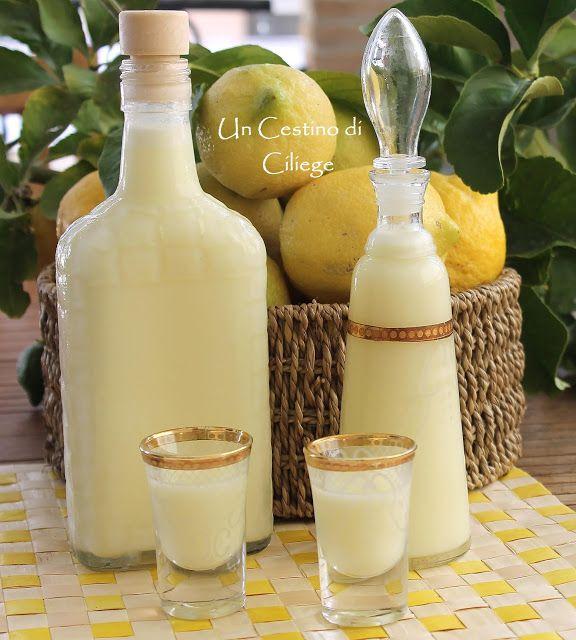 Un cestino di ciliege: Crema di Limoncello