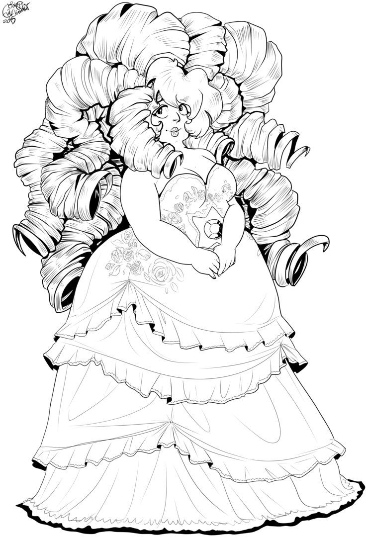 Disney universe coloring pages - Steven Universe Coloring Pages Rose Quartz