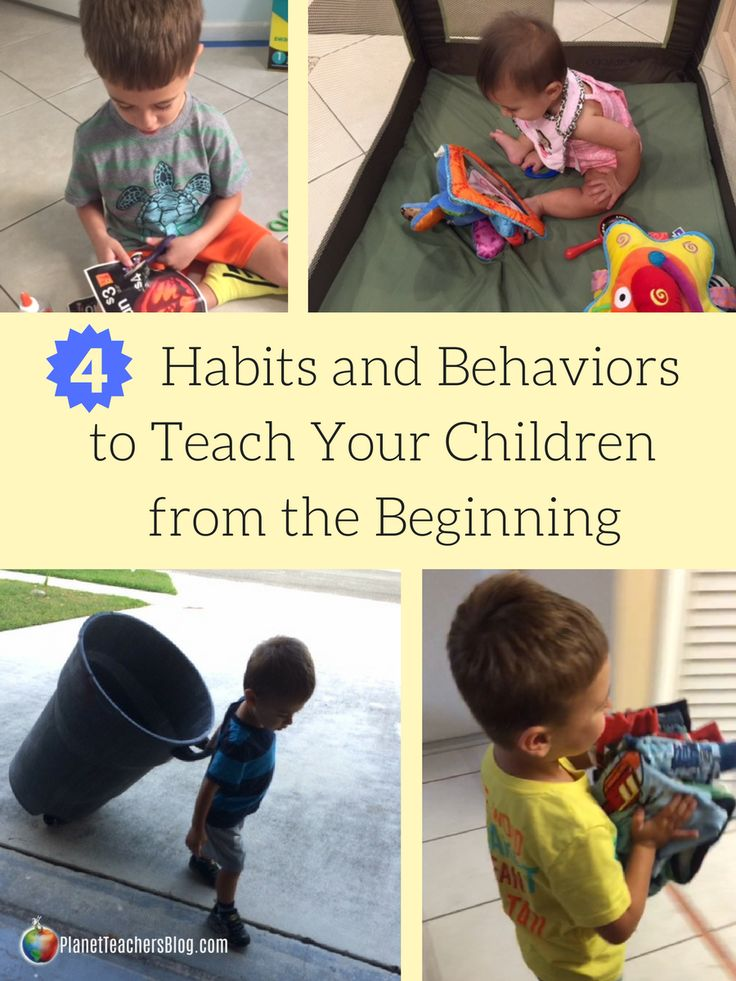 From a teacher and parent perspective, I strongly suggest you teach these 4 habits and behaviors to your child when they are little. Practice Independent playtime for babies and toddlers, have your children clean up after themselves, teach good manners and communication skills, and practice good hygiene. See how it can be done!