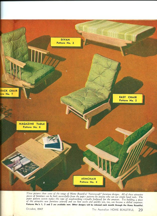 Vintage Chairs patterncraft Fred Ward Furniture