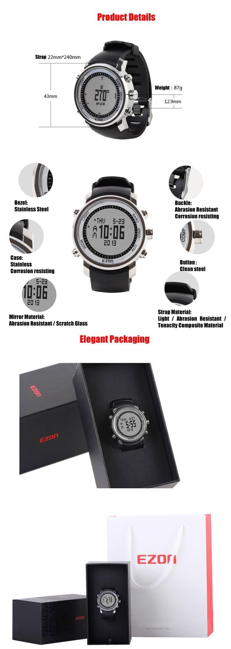 This is a multi-functionalwatch combines altimeter, barometer, thermometer and electronic compass, and alarm. Our watch can measure altitude, pressure, temperature and bearing, and can display time, calendar and the time of 48 cities in 24 time zones, also can set one city time as current time directly.   www.e-winkyz.com