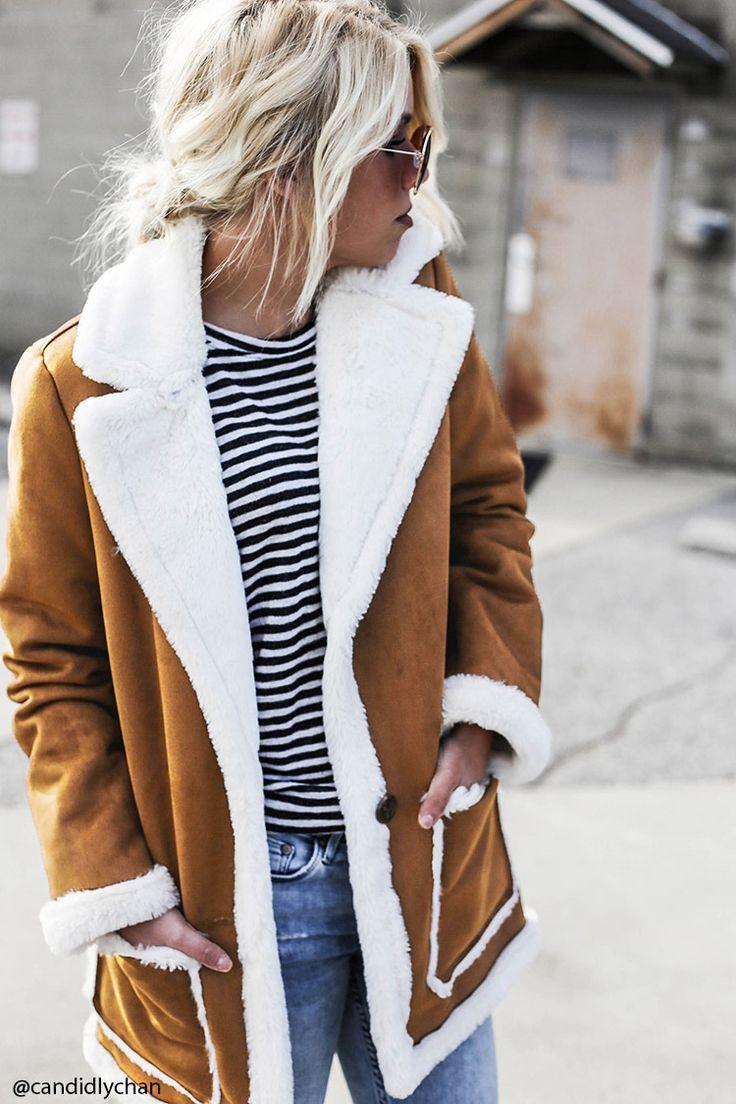 1000 Ideas About Shearling Coat On Pinterest Sheepskin