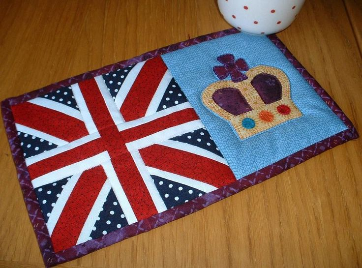 Union Jack Mug Rug by The Patchsmith | Quilting Pattern - Looking for your next project? You're going to love Union Jack Mug Rug by designer The Patchsmith. - via @Craftsy