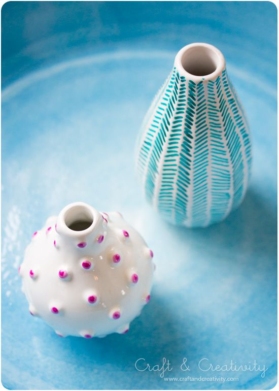 Decorating old vases - by Craft & Creativity