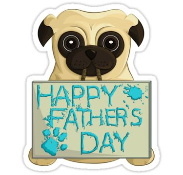 Fathers day pug sticker by anmgoug on redbubble father pug fathersday