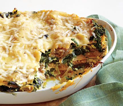 Skinny Holiday Recipes: Spinach Lasagna. #SkinnyHolidaySweeps