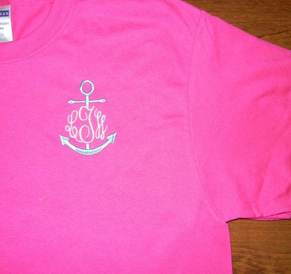 anchor monogram shirt! love!