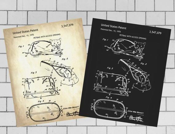 Petbag, pet harness, pet Patent Print, INSTANT DOWNLOAD, pet Printable, pet Prin… – Patent