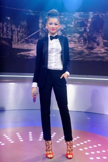 Zendaya Colemans Menswear tuxedo inspired look