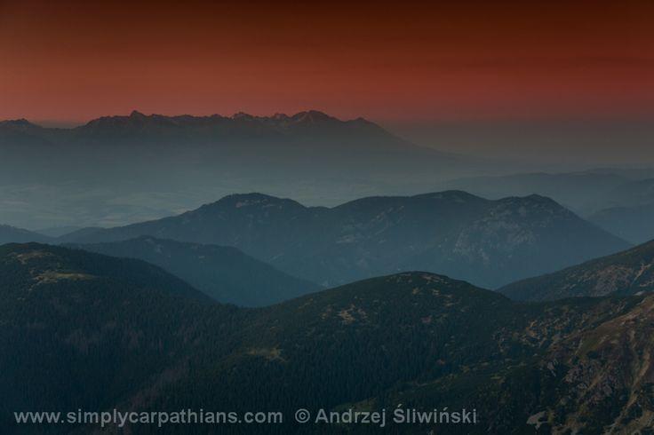 Sunset in Low Tatras #Slovakia www.simplycarpathians.com
