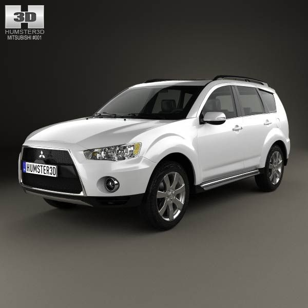 3D model of Mitsubishi Outlander GT 2010 based on a Real object, created according to the Original dimensions. Available in various 3D formats. Download.