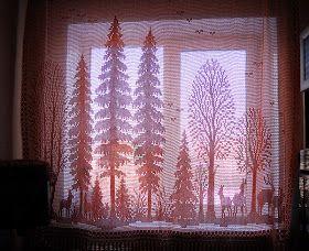 Crochet diagram for curtains