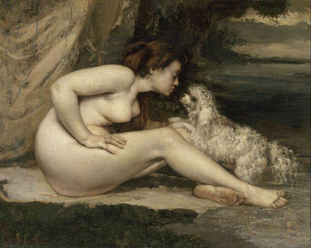 Γυμνή γυναίκα με ένα σκύλο (1861-62)