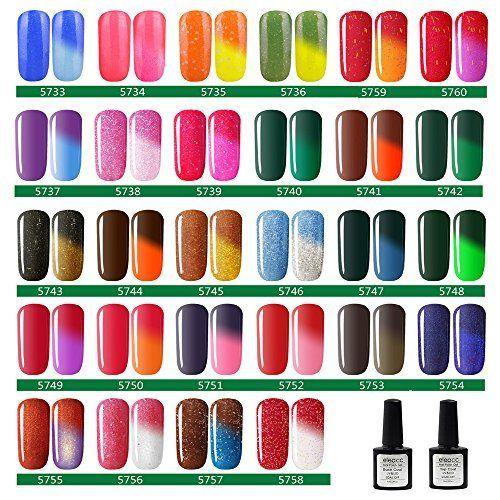 Eleacc ® Vernis à la Température Change Couleur Caméléon UV GEL Série Nail Art Semi Permanente 7.3ml Multicolore: Usage Étape 1: -Façonnez…