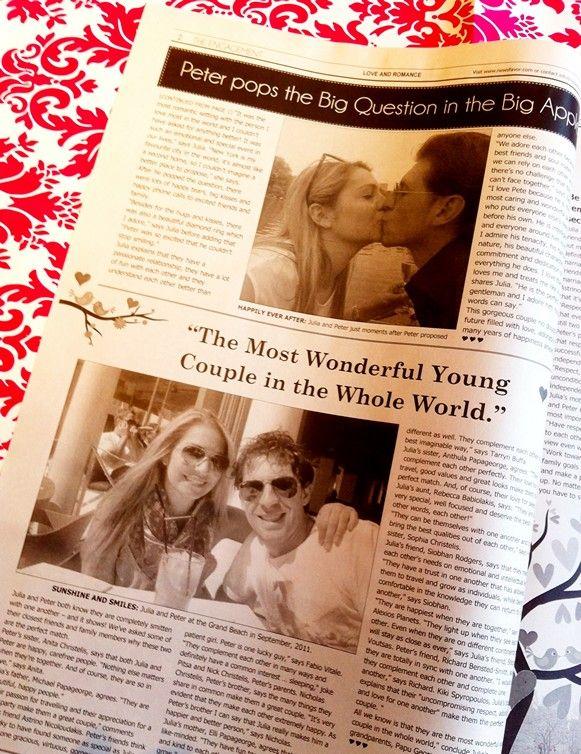 Whimsical Wedding Newspaper:  #Engagement Announcement #Wedding #Newspaper  http://www.newsfavor.com/personalized-wedding-newspaper-favors/