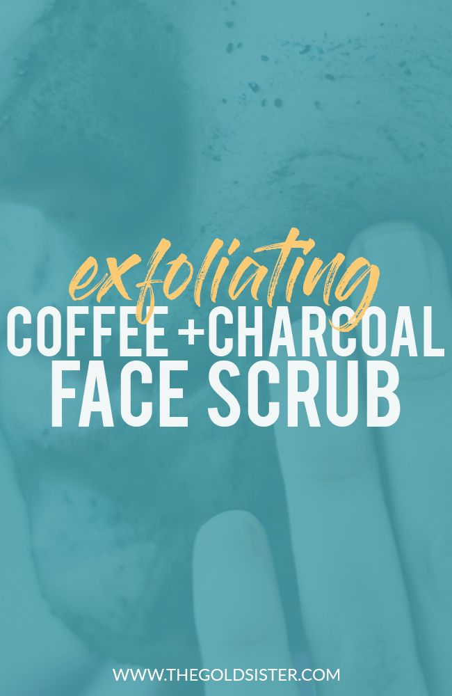 Easy DIY coffee and charcoal face scrub that cleans, exfoliates, and firms your skin. Click through to read how to make it! >>