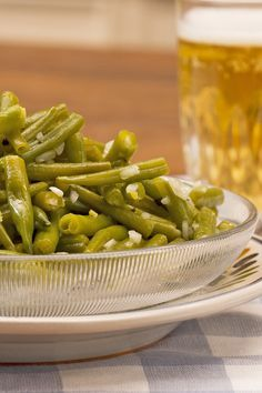 Leckerer Salat mit grünen Bohnen