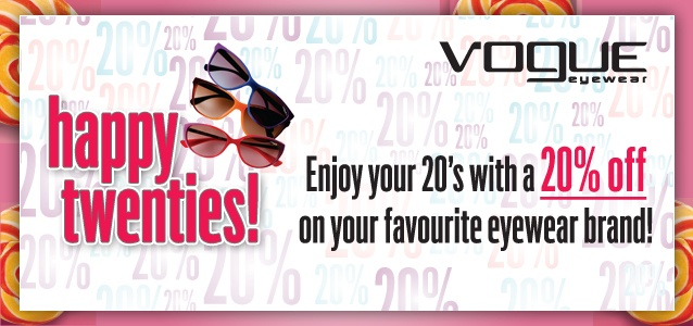 20% Off on stylish Vogue Sunglasses. Get yours at http://www.gkboptical.com/sunglasses/vogue/   Limited period offer!