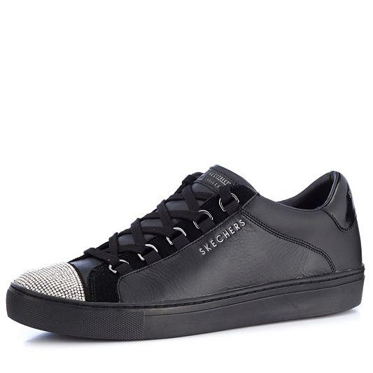 Skechers Street Leather Glitter Toe Cap