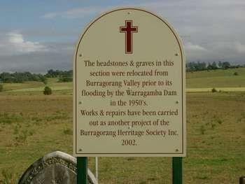sign in Camden Catholic Cemetery