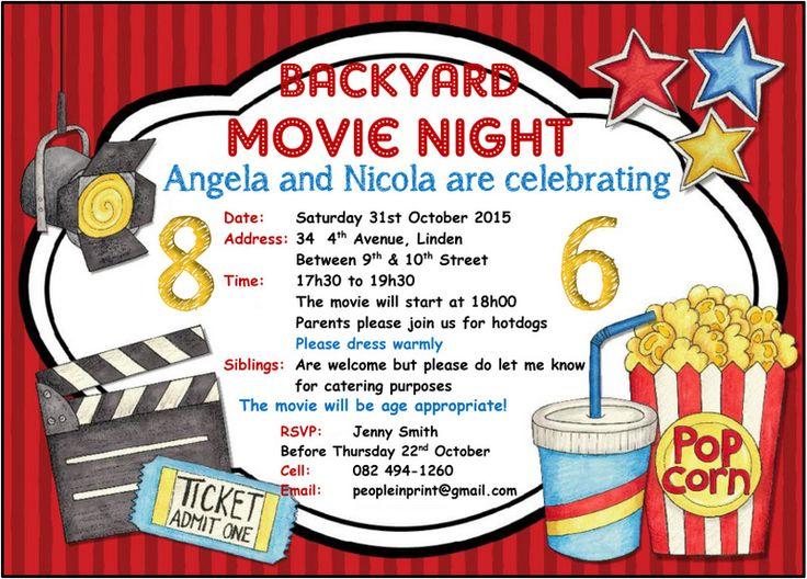 Movie invitation free printable orderecigsjuicefo best 25 movie night invitations ideas on pinterest outdoor printable invitations stopboris Gallery