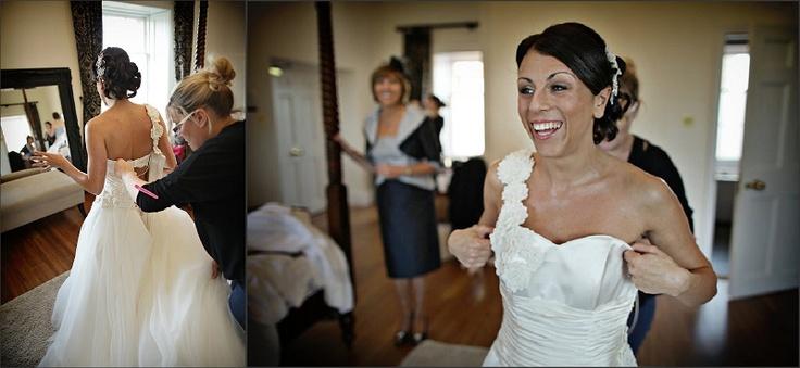 Bridal preparations at the magnificent Botleys Mansion / nealejames.com