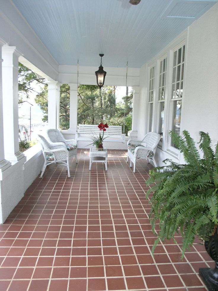 225 best when the front porch was images on pinterest for Front porch flooring ideas