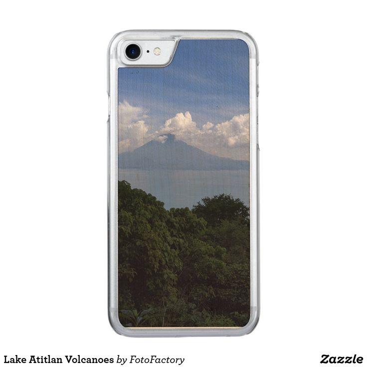 Lake Atitlan Volcanoes Carved Cherry iPhone Bumper Case