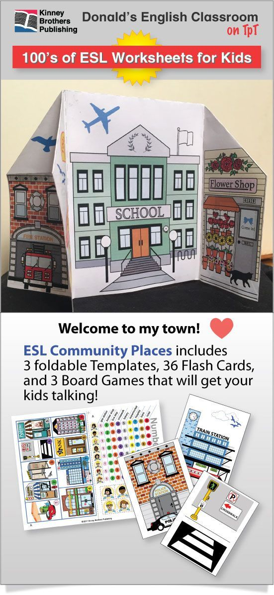 Build your own communities!  Also includes games and flash cards! #ESL #EFL #ELL
