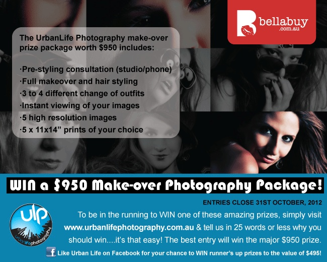 WIN a Make-over Photography Package  Free Online Competitions: Bellabuy