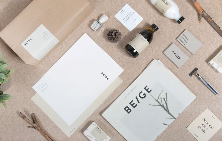 Beautiful and minimal branding and packaging design for Beige by Josep Puy dedicated to personal hygiene products and body beauty care. Beige are nature-based products and aromas of plants, trees with other natural elements.