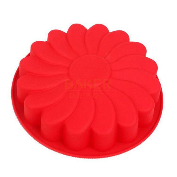 Silicone Kue cetakan tunggal bunga DIY kue Kue Pan Matahari bunga jelly cetakan kualitas FDA CDSM-124