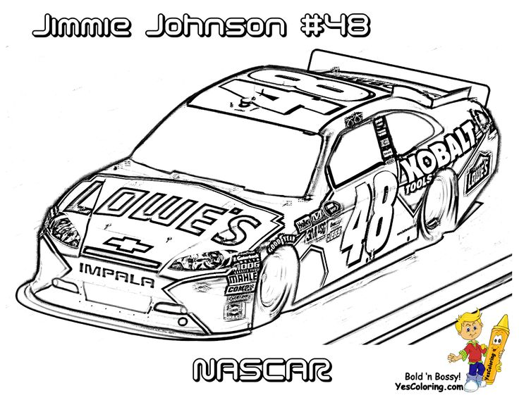 Free NASCAR Coloring Pages The Sports Fan in 2020 Cars